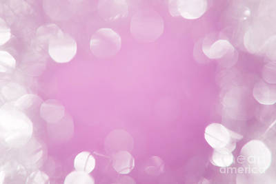 Abstract Photograph - Bright White Bokeh With Pink Center by Wolfgang Steiner