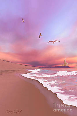 Sand Castles Painting - Brighten Beach by Corey Ford