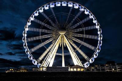 Palace Photograph - Brighton At Night by Joana Kruse