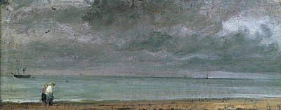 Brighton Beach Print by John Constable