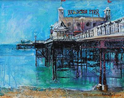 Long Sands Painting - Brighton Pier by Sylvia Paul
