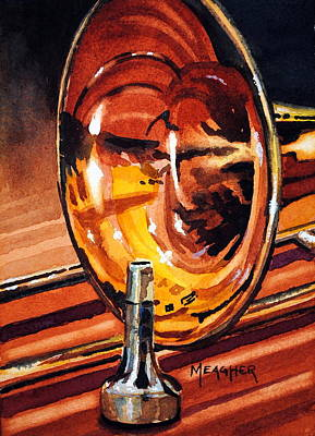 Trombone Painting - Brilliant Brass by Spencer Meagher