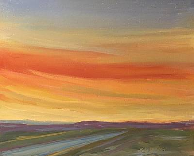 Las Cruces Painting - Brilliant Sunrise by Jo Anne Neely Gomez