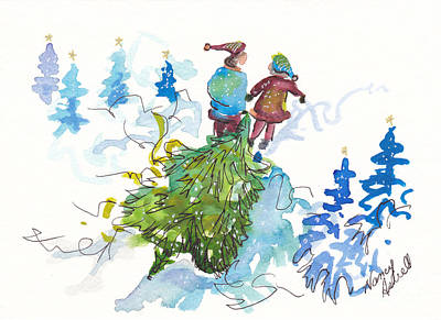 Bringing Christmas Home Again Print by Michele Hollister - for Nancy Asbell