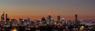 Brisbane City Skyline Print by Az Jackson
