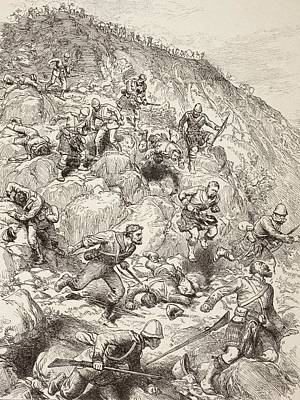 South Africa Drawing - British And Scottish Troops Retreating by Vintage Design Pics