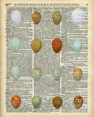 Digital Pastel Painting - British Birds Eggs by Jacob Kuch