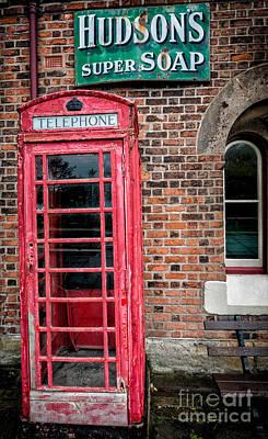 British Phone Box Print by Adrian Evans