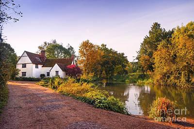 Great Britain Mixed Media - British Village by Svetlana Sewell
