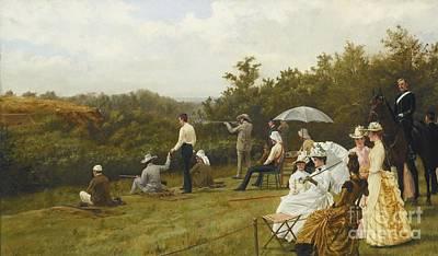 Wimbledon Painting - British Walter Winans On The Running Deer Range by Thomas Blinks