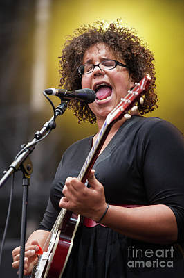 Concert Photograph - Brittany Howard - Alabama Shakes - 001 by Olivier Parent