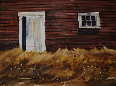 Broadside Barnside Original by Len Stomski