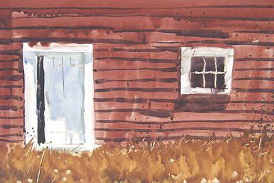 Berkshire Hills Living Painting - Broadside Barnside Study by Len Stomski