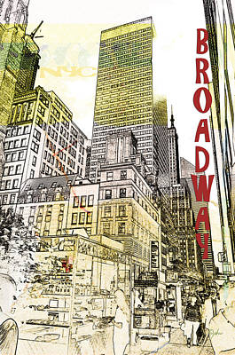Photograph - Broadway Afternoon by Paulette B Wright