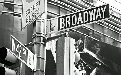Broadway And 42nd Print by Sharla Gentile