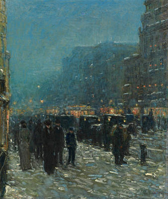 Childe Hassam Painting - Broadway And 42nd Street by Childe Hassam