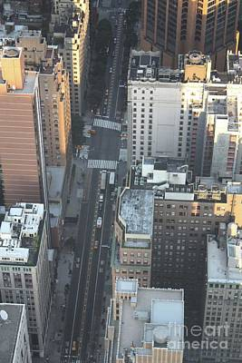 Photograph - Broadway As Seen From The Top Of The Empire State Building by John Telfer