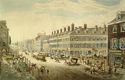 Broadway, New York Print by John Hill