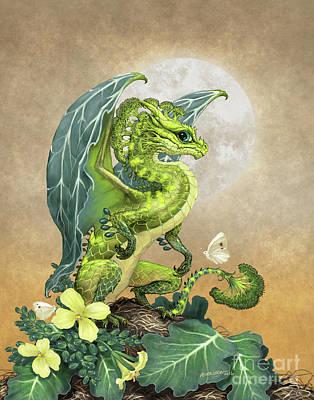 Broccoli Dragon Print by Stanley Morrison