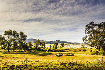 Broken Down Cars On Rural Acreage Print by Jorgo Photography - Wall Art Gallery