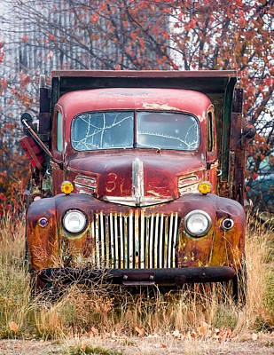 Facing Photograph - Broken Down Old Abandoned Truck by Todd Klassy