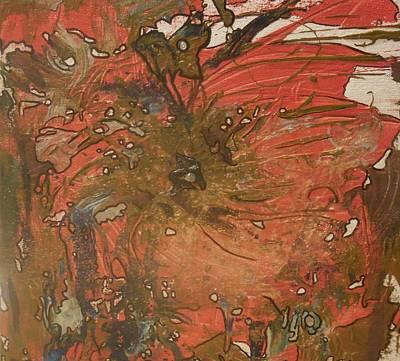 Abstract Painting - Broken Flower by Karen Lillard