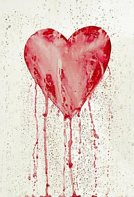 Unhappy Painting - Broken Heart - Bleeding Heart by Michal Boubin