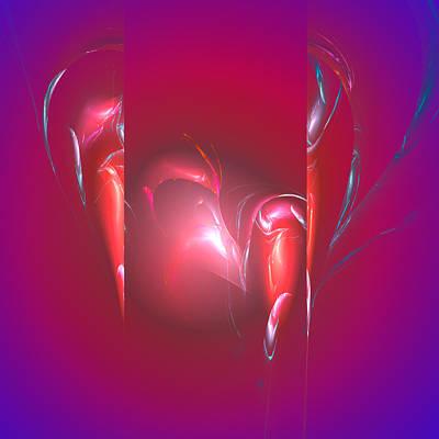 High Resolution Mixed Media - Broken Heart by Mark W Ballard