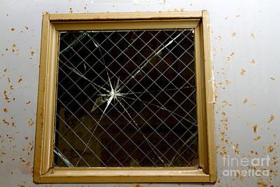 Broken Window Print by Karen Foley