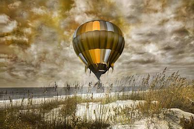 Bronze Beach Ballooning Print by Betsy C Knapp