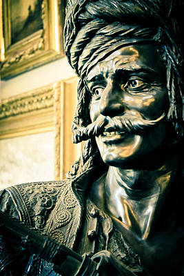 Statue Portrait Photograph - Bronze Bust - The Golden Age by Colleen Kammerer