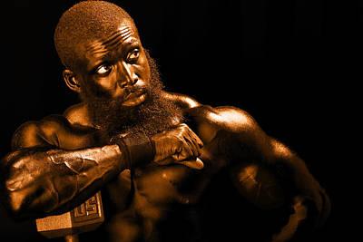 Black Russian Studio Photograph - Bronze Man by Val Black Russian Tourchin