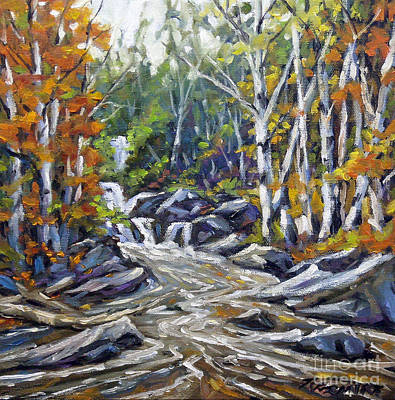 Montreal Painting - Brook Traversing Wood by Richard T Pranke