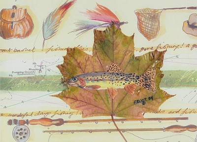 Brook Trout On Fly #2 Original by Ralph Root