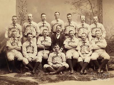 Brooklyn Bridegrooms Baseball Team Print by American School