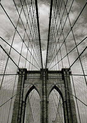 Black Photograph - Brooklyn Bridge by Adrian Hopkins