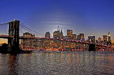 Brooklyn Bridge After Dark Original by Randy Mendelsohn