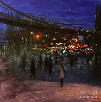 Painting - Brooklyn Bridge by Chin H  Shin