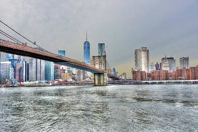 Brooklyn Bridge From The East River Original by Randy Aveille