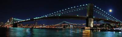 Brooklyn Bridge Full Moon Print by Movie Poster Prints