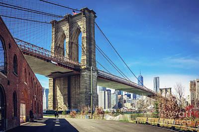 Brooklyn Bridge  Print by Joan McCool