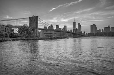 Brooklyn Bridge Monochrome Print by Scott McGuire