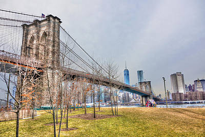 Brooklyn Bridge Park In Winter Print by Randy Aveille