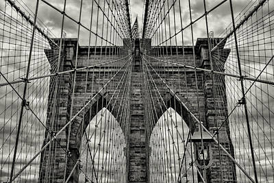 White River Scene Photograph - Brooklyn Bridge by Stephen Stookey