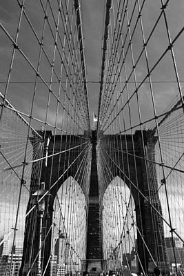 Brooklyn Bridge Tones Print by Jessica Jenney