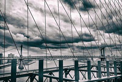 Brooklyn Bridge Digital Art - Brooklyn Bridge Views by Jessica Jenney