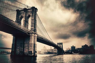 Brooklyn Bridge Digital Art - Brooklyn Bridge Vintage by Jessica Jenney