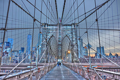 Brooklyn Bridge Walkway At Dusk Original by Randy Aveille