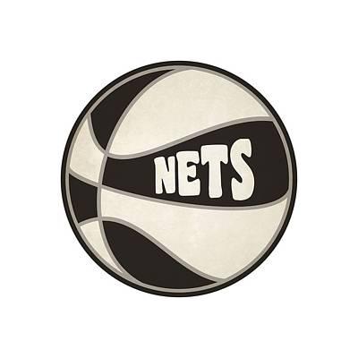 Brooklyn Nets Retro Shirt Print by Joe Hamilton