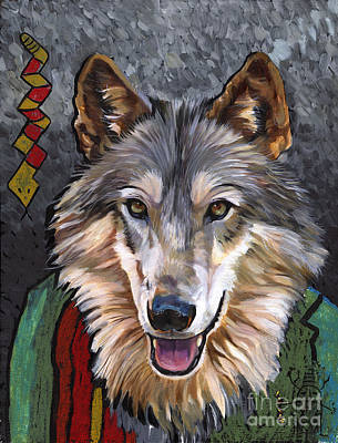 Brother Wolf Print by J W Baker